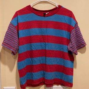 Urban Outfitters Striped Boston Tee